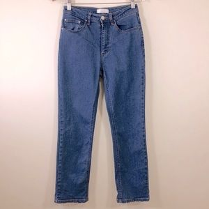 Oak+Fort Straight High Rise Jeans